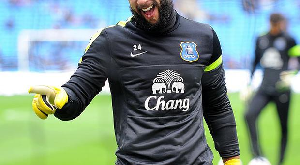 Tim Howard, pictured, is loving life at Everton under Roberto Martinez