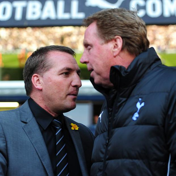 Brendan Rodgers, left, would have considered an offer from Harry Redknapp, right, to join the England coaching staff