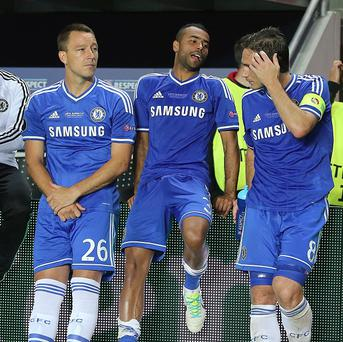 John Terry, left, Ashley Cole, centre, and Frank Lampard, right, are all out of contract at the end of the current campaign