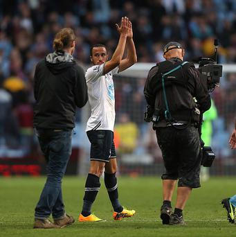 Andros Townsend, second left, was in fine form against Villa and scored Spurs' opener