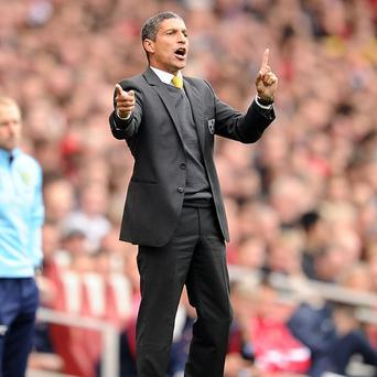Chris Hughton was the target of online abuse for the second time in recent weeks