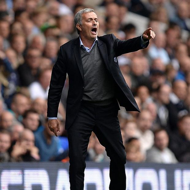 Jose Mourinho was banished to the stands during Chelsea's match against Cardiff