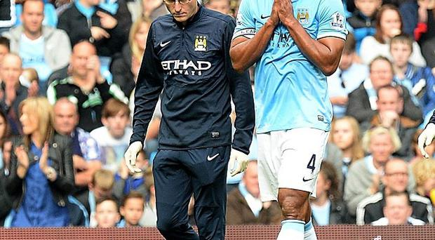 Vincent Kompany has endured an injury plagued start to the season