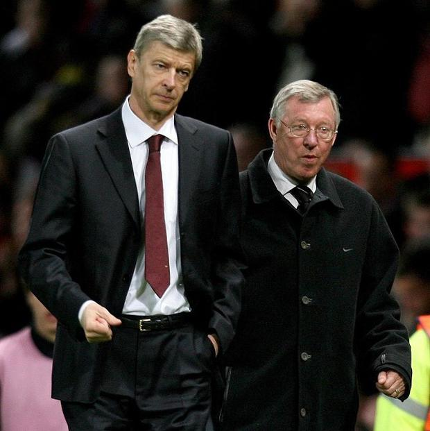 Arsene Wenger, left, had a number of run-ins with Sir Alex Ferguson, right, on the touchline