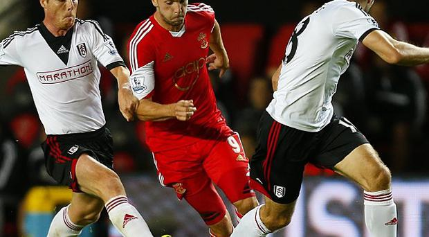 Jay Rodriguez, centre, scored Southampton's second goal