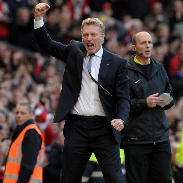David Moyes was relieved to see Manchester United secure the three points against Stoke
