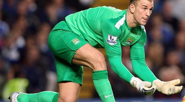 Joe Hart was rested for City's Capital One Cup clash at Newcastle on Wednesday