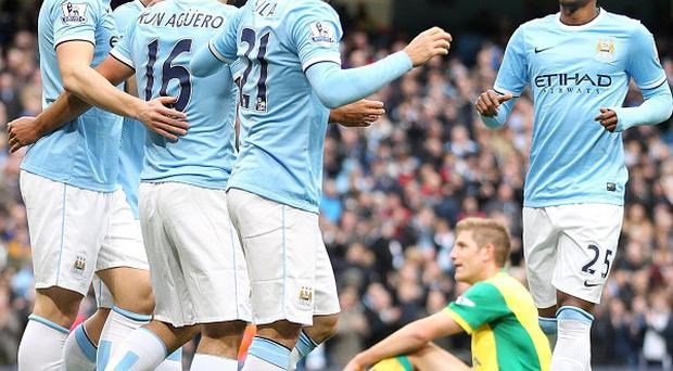 Manchester City were in fine attacking form in their demolition of Norwich