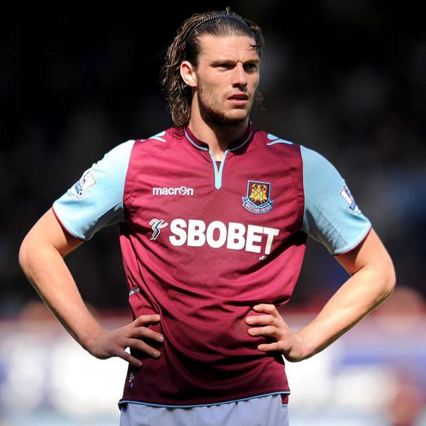 West Ham do not have a date for when Andy Carroll will resume training