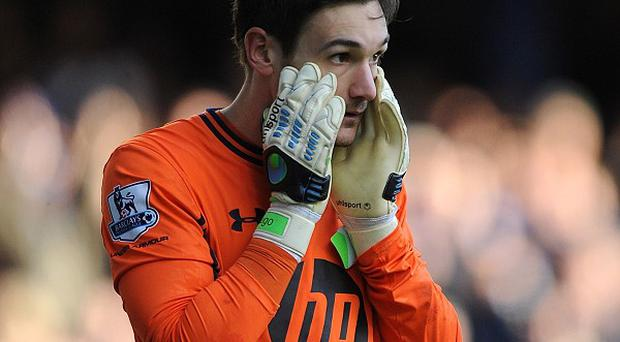 Hugo Lloris was knocked unconscious during Spurs' 0-0 draw with Everton