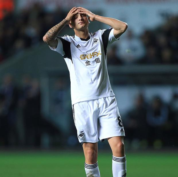 Jonjo Shelvey made the gesture against Cardiff
