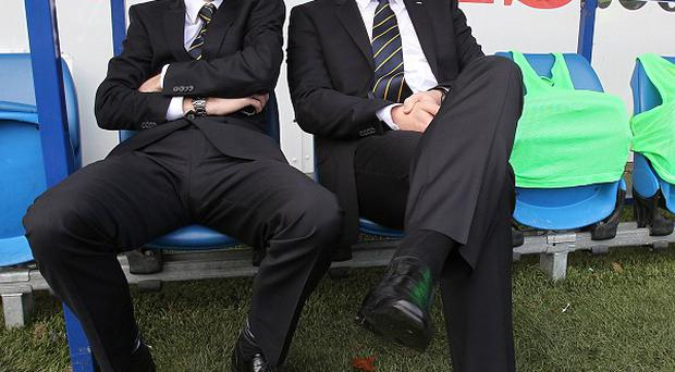 Iain Moody, left, worked with Malky Mackay, right, at Cardiff and Watford