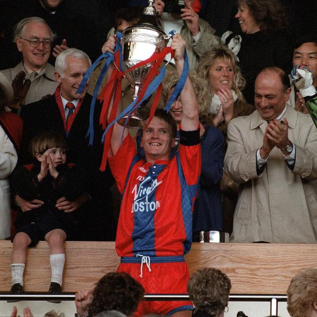 Geoff Thomas won the Full Members Cup while at Crystal Palace