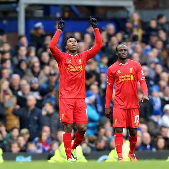 Daniel Sturridge celebrates his equaliser
