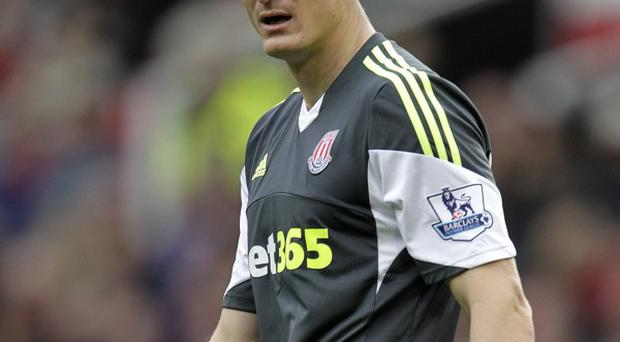 Robert Huth picked up the knee injury in Stoke's win over Sunderland last Saturday