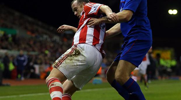 Charlie Adam could have seen red at the Britannia Stadium