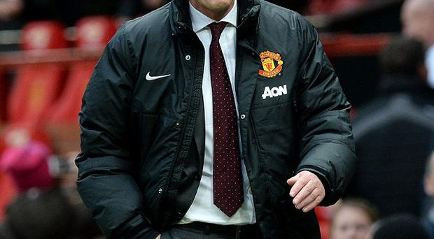 David Moyes leaves the pitch after his team's 1-0 defeat to Newcastle at Old Trafford