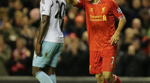 Luis Suarez, right, was on fine form for Liverpool again