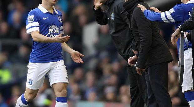 Leighton Baines, left, hopes to be back in time to play some part in the festive programme
