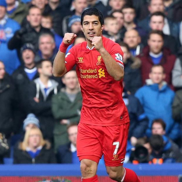 Luis Suarez has 15 goals in 10 Premier League games this season