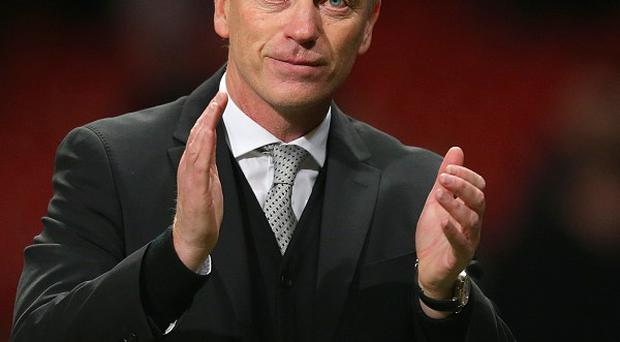 David Moyes, pictured, speaks to Sir Alex Ferguson 'once every two or three weeks and he has been very good'