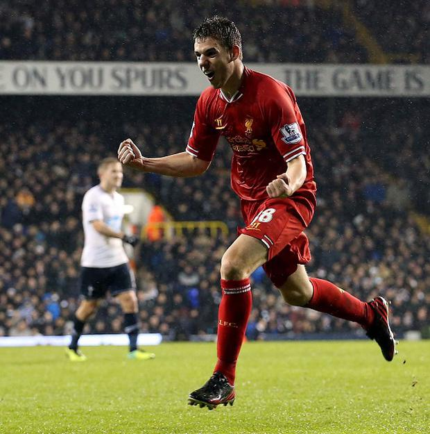 Jon Flanagan scored in the 5-0 win over Tottenham