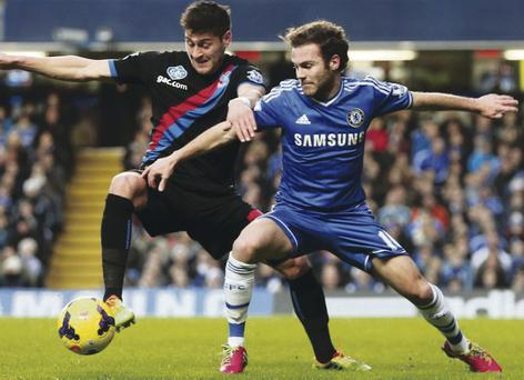 Juan Mata has scored in all four of his starts for Chelsea against Arsenal