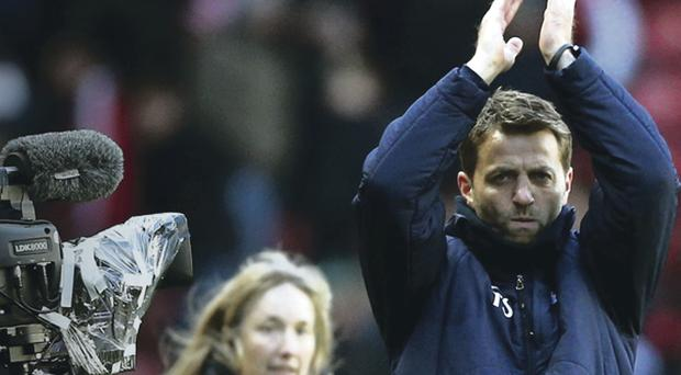 Given his chance: Tim Sherwood is the new manager at Spurs and has a contract until the end of next season