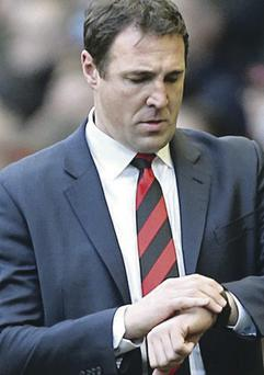 Job worries: Malky Mackay was told to resign or be sacked