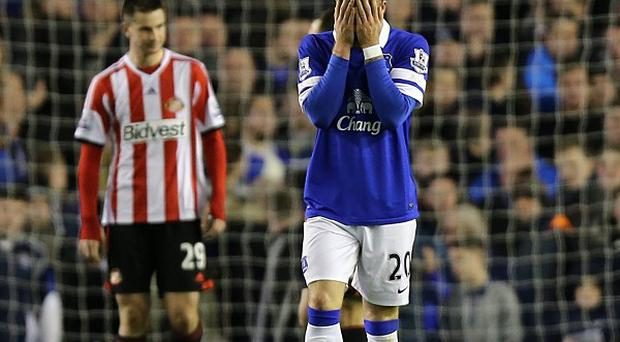 Ross Barkley rues a missed chance