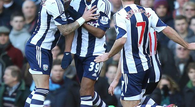 West Brom's Nicolas Anelka, centre, said he will no longer perform the 'quenelle' celebration