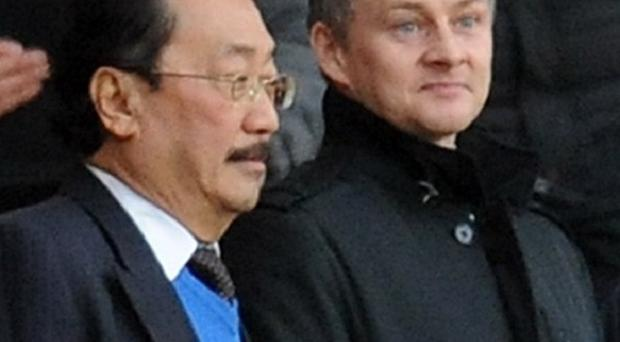 Ole Gunnar Solskjaer, right, is the new Cardiff manager