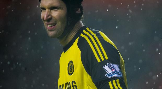 Petr Cech drew level with Peter Bonetti's clean-sheet record at St Mary's on New Year's Day