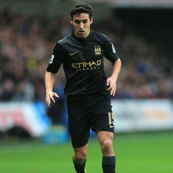 Jesus Navas will miss Wednesday's Capital One Cup semi-final clash with West Ham