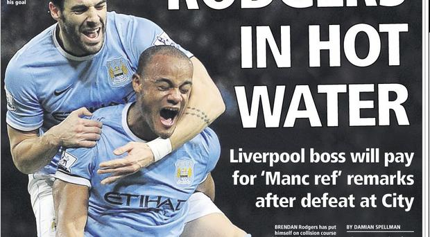 Early warning: Belfast Telegraph back page, December 27
