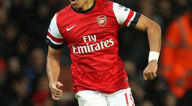 Alex Oxlade-Chamberlain played 45 minutes for Arsenal reserves