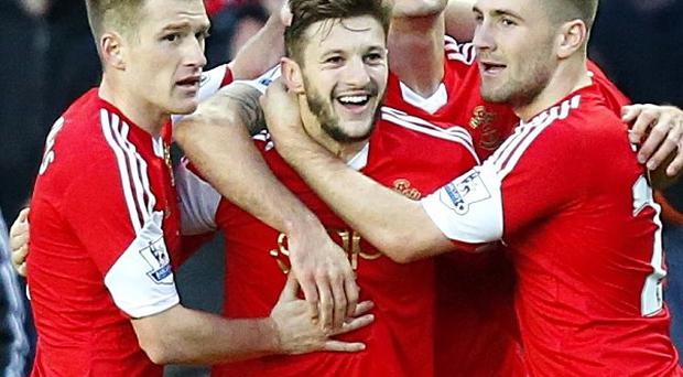 Adam Lallana, centre, proved the difference for Southampton