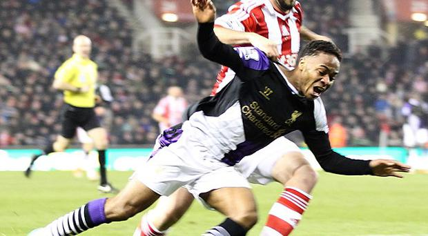 Raheem Sterling helped win a penalty for his side