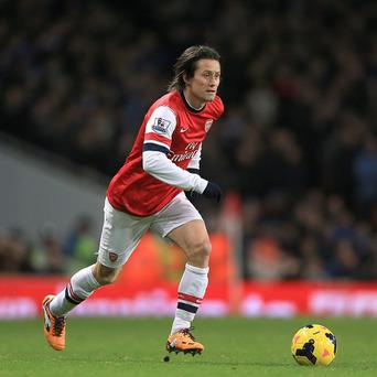 Tomas Rosicky has been a key player in Arsenal's impressive season so far