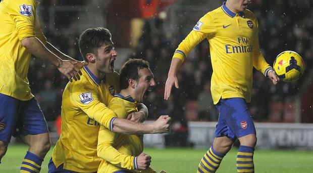 Arsenal's Santi Cazorla put his side ahead in the second half