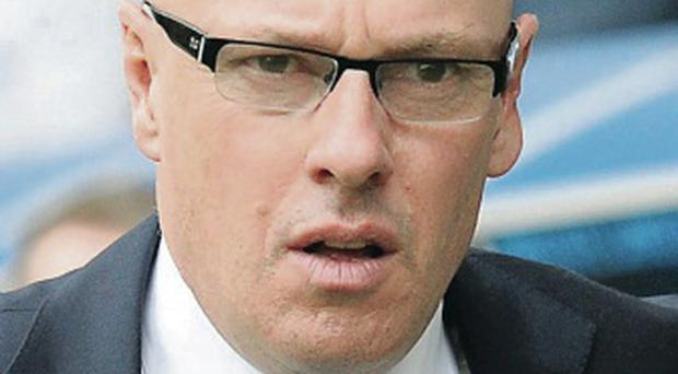 Gone: Leeds United have sacked manager Brian McDermott