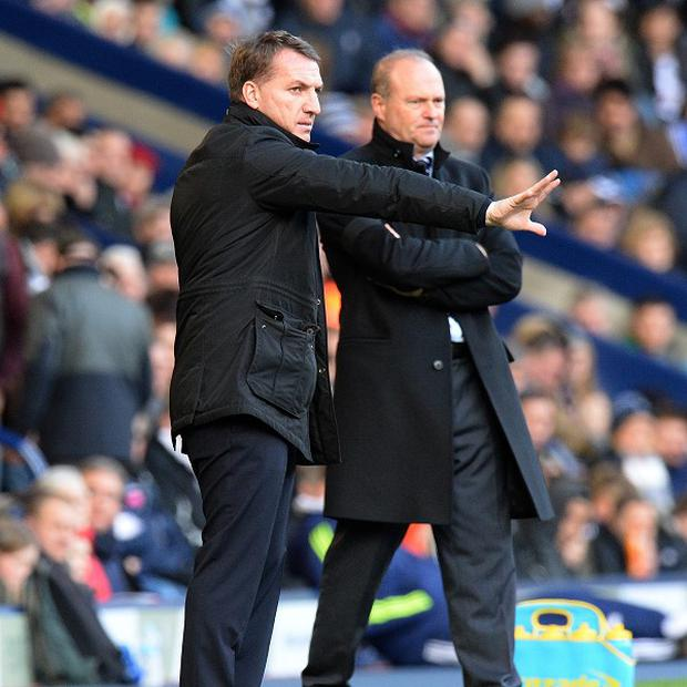Brendan Rodgers, left, was philosophical as Liverpool were held to a draw at The Hawthorns