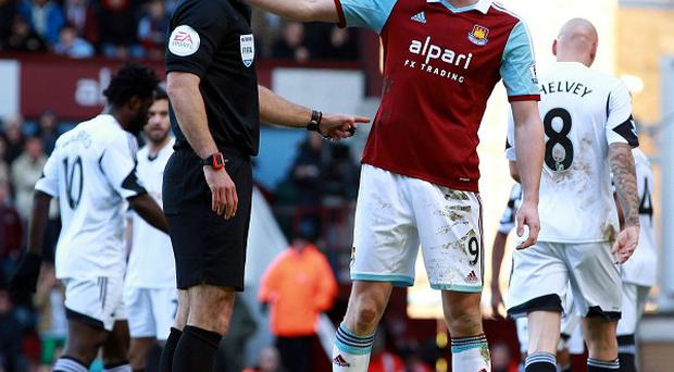 Andy Carroll was sent off against Swansea on Saturday but West Ham are appealing his dismissal