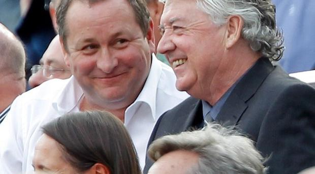 Mike Ashley, left, is not prepared to replace Joe Kinnear, right, who quit as director of football on Monday