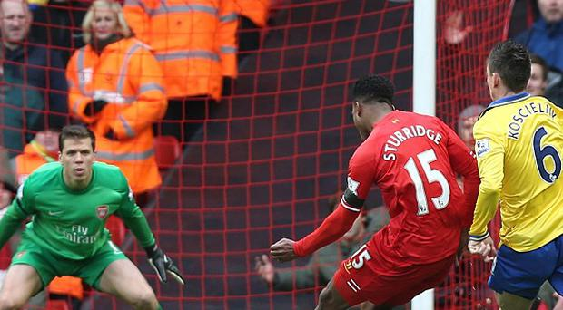 Daniel Sturridge fires home Liverpool's fourth goal