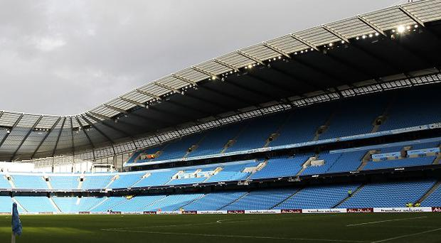 The Etihad Stadium has been battered by strong winds