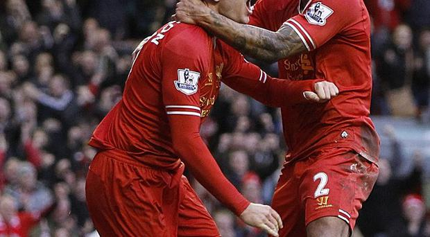 Jordan Henderson celebrates scoring the winning goal