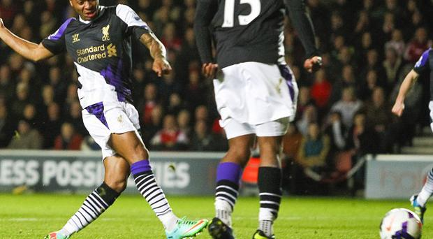 Raheem Sterling adds the second in Liverpool's victory