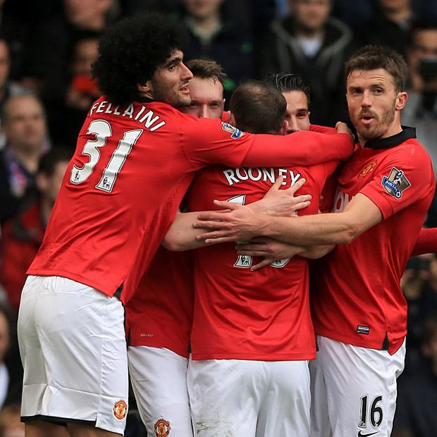 Michael Carrick, right, was delighted with Manchester United's performance at West Brom