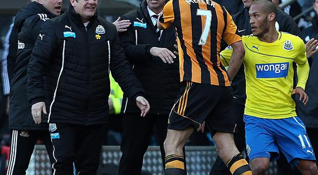 Alan Pardew, centre, will not appeal his seven-match suspension for headbutting
